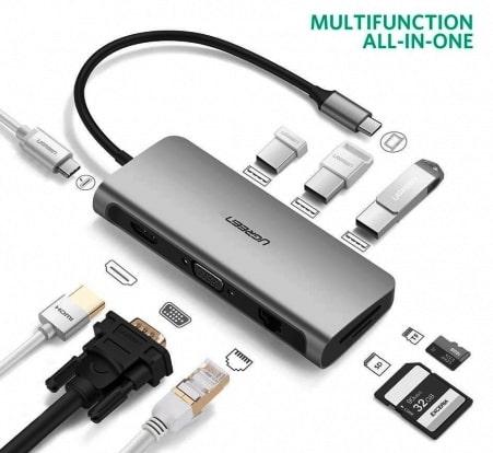 UGREEN 9-in-1 USB C Adapter for Apple MacBook برنامج تعريف